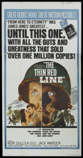 "Movie Posters:War, The Thin Red Line (Allied Artists, 1964). Three Sheet (41"" X 81"").War...."