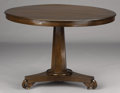 Furniture : American, AN AMERICAN MAHOGANY CIRCULAR TABLE. 19th Century. 28-1/2 x 40-1/2 inches (72.4 x 102.9 cm). ...