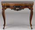 Furniture , AN AMERICAN MAHOGANY FLIP-TOP CARD TABLE. Late 19th-Early 20th Century. 29-1/2 x 39 x 19 inches (74.9 x 99.1 x 48.3 cm). ...