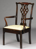 Furniture : English, AN ENGLISH GEORGIAN MAHOGANY COMMODE CHAIR. Mid 18th Century. 41 x 22 x 18 inches (104.1 x 55.9 x 45.7 cm). ...