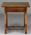 Furniture : French, A FRENCH LOUIS XIIITH-STYLE PROVINCIAL PINE WORK TABLE. Late19th-Early 20th Century. 27 x 37 x 29 inches (68.6 x 94 x 73.7 ...