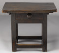 Furniture : Continental, AN ITALIAN BAROQUE WALNUT SIDE TABLE. Late 17th Century. 25-1/2 x30 x 25 inches (64.8 x 76.2 x 63.5 cm) . ...