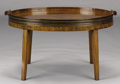 Furniture , AN ENGLISH GEORGE III WALNUT TRAY TABLE. Late 18th-Early 19th Century and later. 17 x 30 x 21-3/4 inches (43.2 x 76.2 x 55.2...