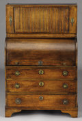 Furniture : French, A FRENCH PROVINCIAL MINIATURE WALNUT DESK. Late 18th Century.41-1/2 x 27 x 17-1/2 inches (105.4 x 68.6 x 44.5 cm). ...