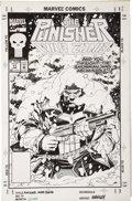Original Comic Art:Covers, Mike Manley - The Punisher War Zone #11 Cover Original Art (Marvel,1993)....