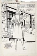 Original Comic Art:Splash Pages, Keith Pollard and Joe Sinnott - Fantastic Four Annual #21,Invisible Woman Splash Page 41 Original Art (Marvel, 1988)....