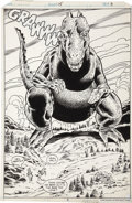 Original Comic Art:Splash Pages, Herb Trimpe and Dan Green - Godzilla #15, Splash Page 3 OriginalArt (Marvel, 1978)....