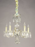 Decorative Arts, Continental:Lamps & Lighting, A CRYSTAL FIVE-LIGHT CHANDELIER. 20th Century. 21-1/2 inches (54.6cm) diameter. ...