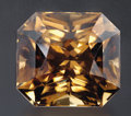 Gems:Faceted, GOLDEN COGNAC BROWN ZIRCON. ...
