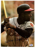 Autographs:Photos, Hank Aaron Signed Neil Leifer Photograph. There was hardly a manwho pitched in the majors who looked forward to seeing Ham...