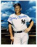 Autographs:Photos, Mickey Mantle Signed Photograph. Immediately recognizable, this exceptional photograph of the Mick includes a 10/10 blue sh...