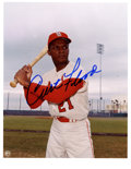 Autographs:Photos, Curt Flood Signed Photograph. One of the most impressive Floodsigned photos that we have seen, both in its attractive comp...