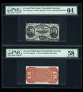 Fractional Currency:Third Issue, Fr. 1275SP 15c Third Issue Narrow Margin Pair.... (Total: 2 items)