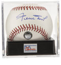 Autographs:Baseballs, Willie Mays Single Signed Baseball, PSA Gem Mint 10. The offeredexample from Willie Mays is an absolute image of perfection...