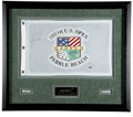 Golf Collectibles:Autographs, 2000 Tiger Woods Signed U.S. Open Flag. For some time now TigerWoods has been renowned hands-down as the man at the top of...