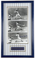 """Autographs:Photos, Mickey Mantle Signed """"First Hit"""" Photograph Sequence. Die-hardbackers of the New York Yankees will know that the iconic je..."""