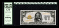 Small Size:Gold Certificates, Fr. 2404 $50 1928 Gold Certificate. PCGS Gem New 65PPQ.. ...