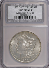 1900-O/CC $1 --Improperly Cleaned--NCS. Unc Details. A Top 100 Variety. NGC Census: (8/1727). PCGS Population (25/4371)...