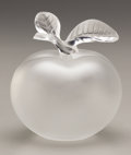 Glass, A FRENCH GLASS PAPERWEIGHT. René Lalique, Paris, 20th Century. Marks: Lalique France. 5-1/2 inches (14.0 cm) high. ...