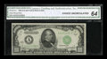 Small Size:Federal Reserve Notes, Fr. 2212-A $1000 1934A Federal Reserve Note. CGA Choice Uncirculated 64.. ...