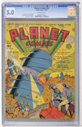 Golden Age (1938-1955):Science Fiction, Planet Comics #9 (Fiction House, 1940) CGC VG/FN 5.0 Off-whitepages....