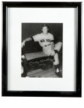 Autographs:Photos, Mickey Mantle Signed Photograph. This terribly popular Ray Gallo dugout portrait of the Mick bears the oh-so-desired signat...