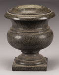 Decorative Arts, Continental:Other , A POLISHED GRANITE URN. 19th Century. 14-1/2 inches (36.8 cm) high....