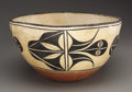 American Indian Art:Pottery, A SANTO DOMINGO POLYCHROME DOUGH BOWL. c. 1940. ...