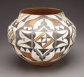American Indian Art:Pottery, AN ACOMA POLYCHROME STORAGE JAR. c. 1925. ...