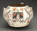 American Indian Art:Pottery, A ZUNI POLYCHROME EFFIGY JAR. Attributed to Catalina Zunie. c. 1935. ...