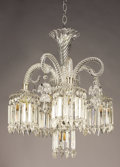 Decorative Arts, French:Lamps & Lighting, A FRENCH CRYSTAL FOUR-LIGHT CHANDELIER. Early 20th Century. 24inches (61.0 cm) high. ...