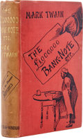Books:First Editions, Mark Twain. The £1,000,000 Bank-Note and Other New Stories.London: Chatto & Windus, 1893....