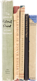 Books:Fiction, Robert Frost. Five Titles By or About Frost, One a Signed LimitedEdition, including:... (Total: 5 Items)