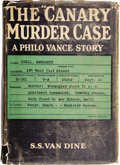 """Books:First Editions, S. S. Van Dine. The """"Canary"""" Murder Case. A Philo VanceStory. New York: Charles Scribner's Sons, 1927...."""