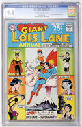 Silver Age (1956-1969):Superhero, Superman's Girlfriend Lois Lane Annual #2 (DC, 1963) CGC NM 9.4Off-white to white pages....