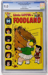 Little Lotta Foodland #13 File Copy (Harvey, 1966) CGC VF/NM 9.0 Off-white pages