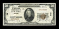 Error Notes:National Bank Note Errors, New York, NY - $20 1929 Ty. 1 The First NB Ch. # 29. ...