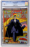 Golden Age (1938-1955):Classics Illustrated, Classic Comics #3 Count of Monte Cristo HRN 20 (Sunrise Times,1942) CGC FN/VF 7.0 Cream to off-white pages....