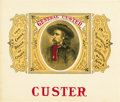 "Antique Stone Lithography:Cigar Label Art, General George Custer ""Custer"" Cigar Label Ca. 1880-1890...."