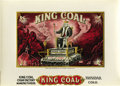 Antique Stone Lithography:Cigar Label Art, King Coal Cigar Label by V.E. Richardi, Trinidad, Colorado....