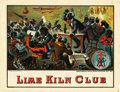 Antique Stone Lithography:Cigar Label Art, Lime Kiln Club 1883 Black Americana Cigar Label by Mensing & Stecher of Rochester, New York....