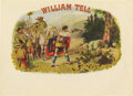 Antique Stone Lithography:Cigar Label Art, Excellent William Tell Cigar Label. ...