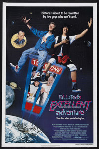"Bill & Ted's Excellent Adventure (Orion, 1989). One Sheet (27"" X 41""). Comedy. Starring Keanu Reeves, Alex..."
