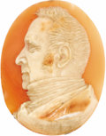 Estate Jewelry:Cameos, Unmounted Victorian Shell Portrait Cameo. The carved shell portraitcameo, depicting a gentleman's profile, measures 45.00...
