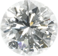 Unmounted Diamond  The round brilliant-cut diamond measures 6.37 - 6.43 x 3.98 mm and weighs 1.01 carats. A G.I.A. Gem T...