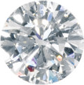 Estate Jewelry:Unmounted Diamonds, Unmounted Diamond. The round brilliant-cut diamond measures 6.64 -6.74 x 3.85 mm and weighs 1.02 carats. A G.I.A. Gem Tra...