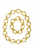 Estate Jewelry:Necklaces, Gold Necklace, Tiffany & Co.. The 18k yellow gold oval link chain measures 24 inches in its entirety with the option of co...