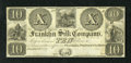 Obsoletes By State:Ohio, Franklin, OH- Franklin Silk Company $10 18__. A Benjamin Franklinand electricity vignette is used on this denomination, whi...