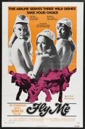 "Movie Posters:Sexploitation, Fly Me (International Film Distributors, 1973). One Sheet (27"" X41""). Action Sexploitation. Starring Pat Anderson, Lenore K..."