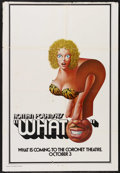 """Movie Posters:Adult, What? (Avco Embassy, 1973). One Sheet (27"""" X 41""""). Adult. Starring Marcello Mastroianni, Sydne Rome, Hugh Griffith and Guido..."""